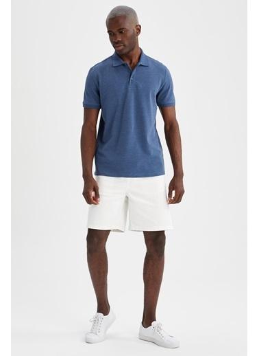 DeFacto Regular Fit Polo Yaka Basic T-shirt Lacivert